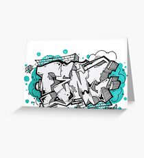 Cool graffiti Greeting Card