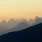 A Smokey Ridge - Jasper National Park  by Barrie Daniels
