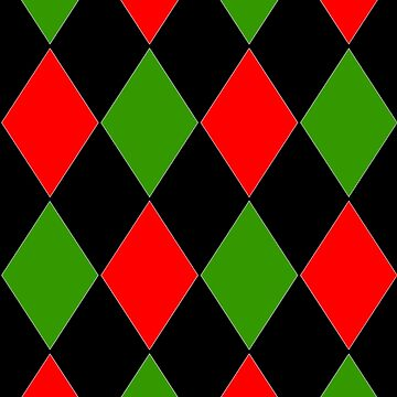 CHRISTMAS HARLEQUIN NIGHTS FOR CLOTHING AND HOME DECOR RED| GREEN | BLACK by ozcushionstoo