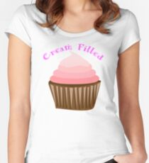 Iskybibblle Products/ Cream Filled Women's Fitted Scoop T-Shirt