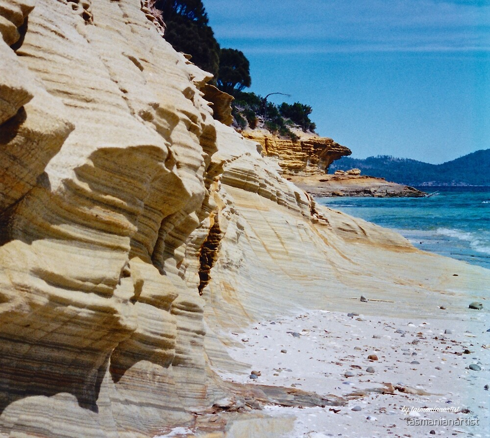 TASMAN PENINSULA ~ Lagoon Beach Sandstone Sculpture by tasmanianartist by tasmanianartist