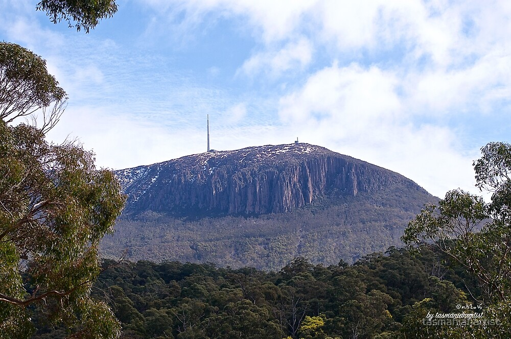 SCENES & SCENERY ~ The Mountain And Its Organ Pipes by tasmanianartist by tasmanianartist