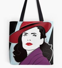 Red Hat Female Tote Bag