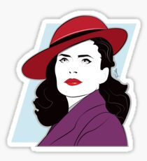 Red Hat Female Sticker