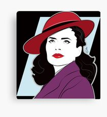 Red Hat Female Canvas Print