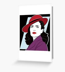 Red Hat Female Greeting Card