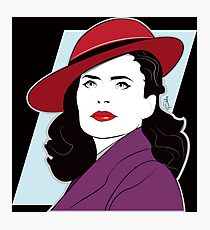 Red Hat Female Photographic Print