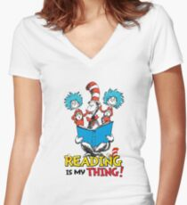 Read Across America - Reading is my Thing tshirt Women's Fitted V-Neck T-Shirt