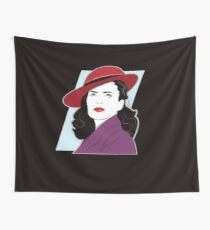 Red Hat Female Wall Tapestry
