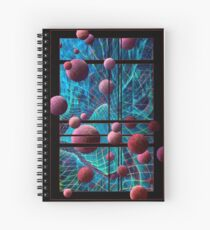 Curved Space Spiral Notebook