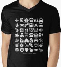 Medical Tourism Travel Icon Men's V-Neck T-Shirt