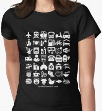 Medical Tourism Travel Icon Women's Fitted T-Shirt