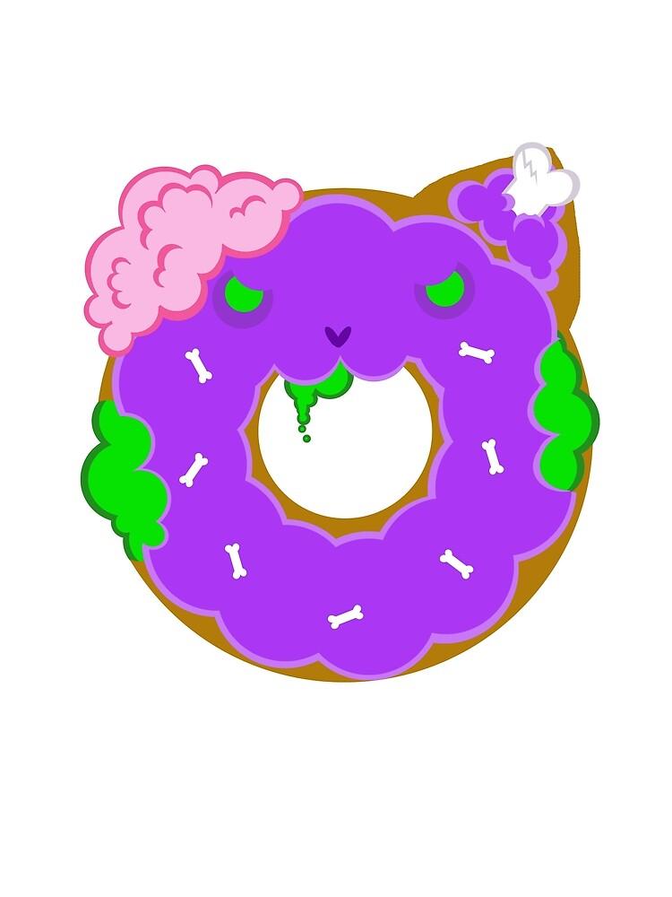 Kawaii Zombie Doughnut Graphic T Shirt