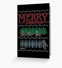 Stranger Things 2 - Merry Christmas Ugly Sweater T-Shirt Greeting Card