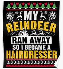 Funny Christmas Hairdresser Gift Poster