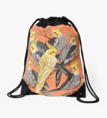 Cockatiel Fun Drawstring Bag