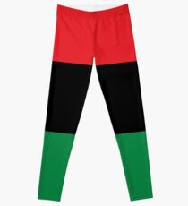 Red, Black & Green Flag Leggings
