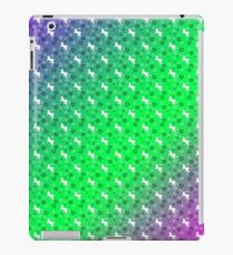 White Unicorn Pattern (Green & Purple) iPad Case/Skin