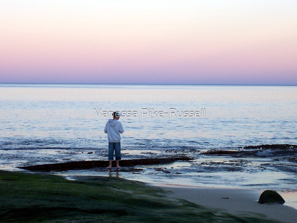 Landscape - Boy on the beach by Vanessa Pike-Russell