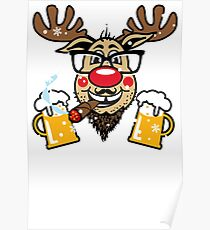 Rentier Rudolph This is MY UGLY CHRISTMAS SWEATER 89 Poster