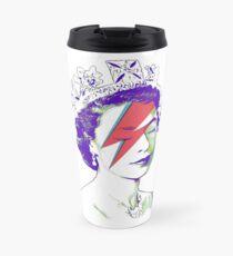 Queen Elizabeth Banksy Bowie Aladdin Sane Travel Mug