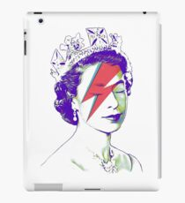 Queen Elizabeth Banksy Bowie Aladdin Sane iPad Case/Skin