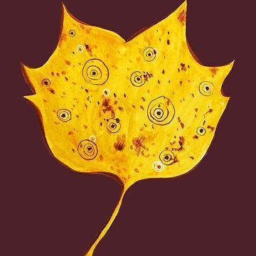Fancy Yellow Autumn Leaf by azzza