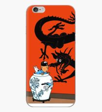 Tintin the blue lotus iPhone Case