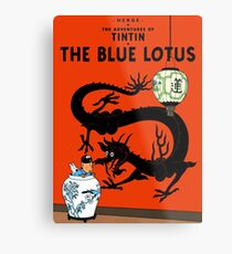 Tintin the blue lotus Metal Print
