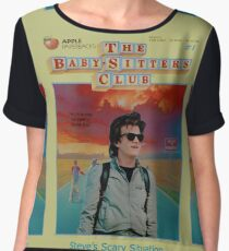 STRANGER THINGS  / BABY SITTERS CLUB MASH UP Women's Chiffon Top