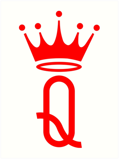 Red Queen Crown Symbol Art Prints By Igorsin Redbubble