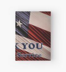 USA Military Veterans Patriotic Flag Thank You Hardcover Journal