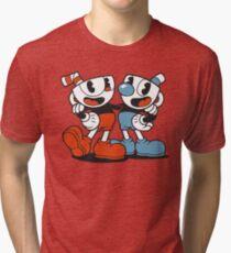 Cuphead and Mugman Tri-blend T-Shirt