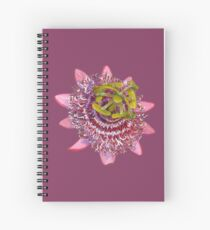 D1G1TAL-M00DZ ~ FLORAL ~ Passiflora by tasmanianartist for Karl May Friends Spiral Notebook