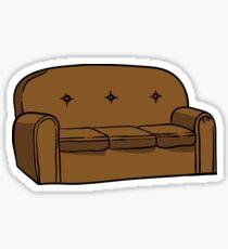 Simpsons couch sticker Sticker