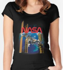 ISS International Space Station  Women's Fitted Scoop T-Shirt