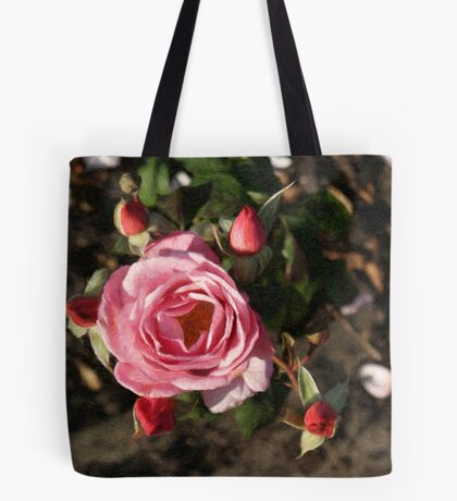 Painted Roses and Bubs Tote Bag