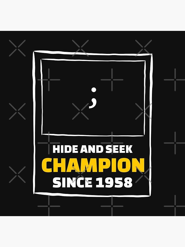 Hide and Seek Champion - Funny Programming Jokes by springforce