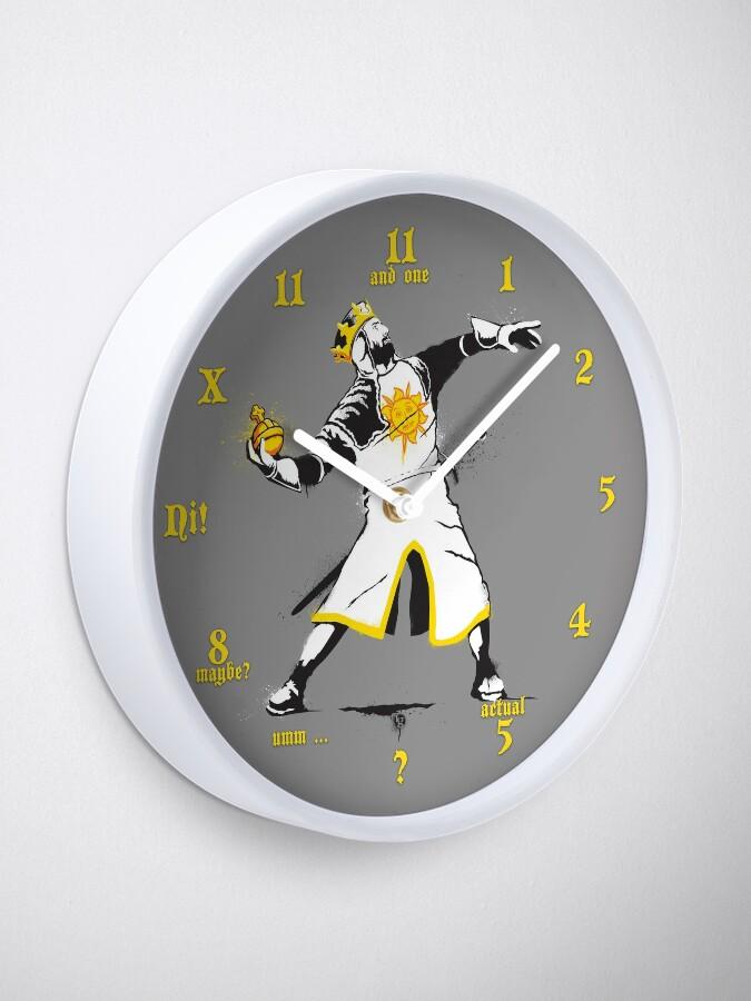 Alternate view of Banksy Python 1-2-5 Clock