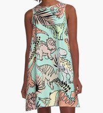 Cartoon Dinosaur pattern A-Line Dress