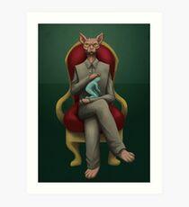 VILLAIN - Evil cat Art Print