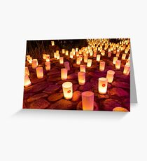 Canberra Nara Candle Festival Greeting Card
