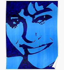 """Blue Girl"" original signed acrylic painting on canvas Poster"