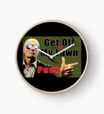 Get Off My Lawn Clock