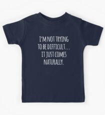 Sleeping Comes Naturally Funny Quote Kids Clothes