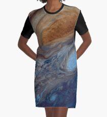 Jupiter's Clouds Graphic T-Shirt Dress