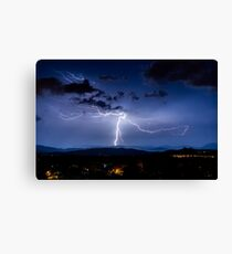 Tree of Life Lightning Strike Canvas Print