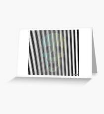 Op Art Skull Greeting Card