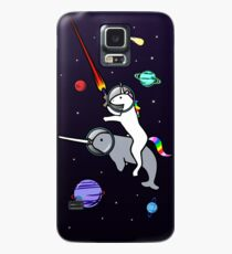 Funda/vinilo para Samsung Galaxy Unicorn Riding Narwhal en el espacio