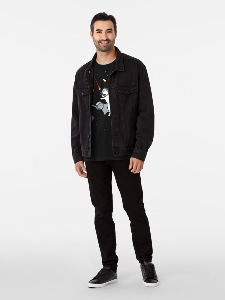 Alternative Ansicht von Unicorn Reiten Narwhal im Raum Premium T-Shirt
